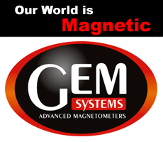 GEM Systems Logo, Our world is magnetic