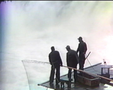 Fishermen at Celilo Falls, close-up