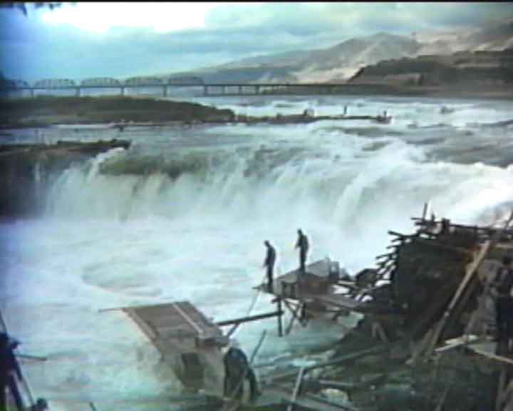 Fishermen at Celilo Falls