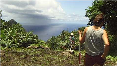 Archaeologists at a site on Saba