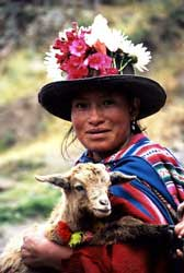 Quechua Woman with Goat
