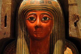 Egyptian Sarcophagus Head